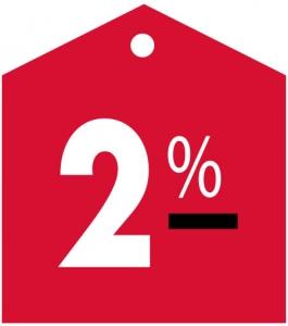 commission 2%